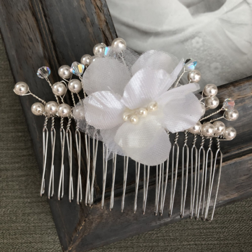 Wedding hair comb - large